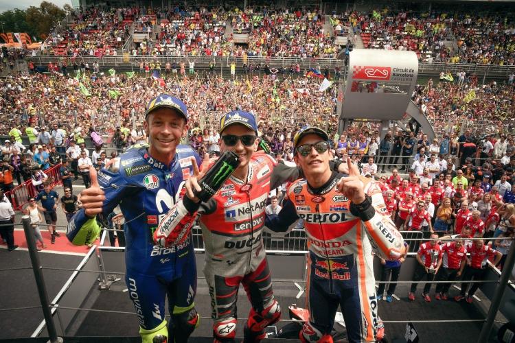 Los protagonistas del podio en el GP de Catalunya |MotoGP©