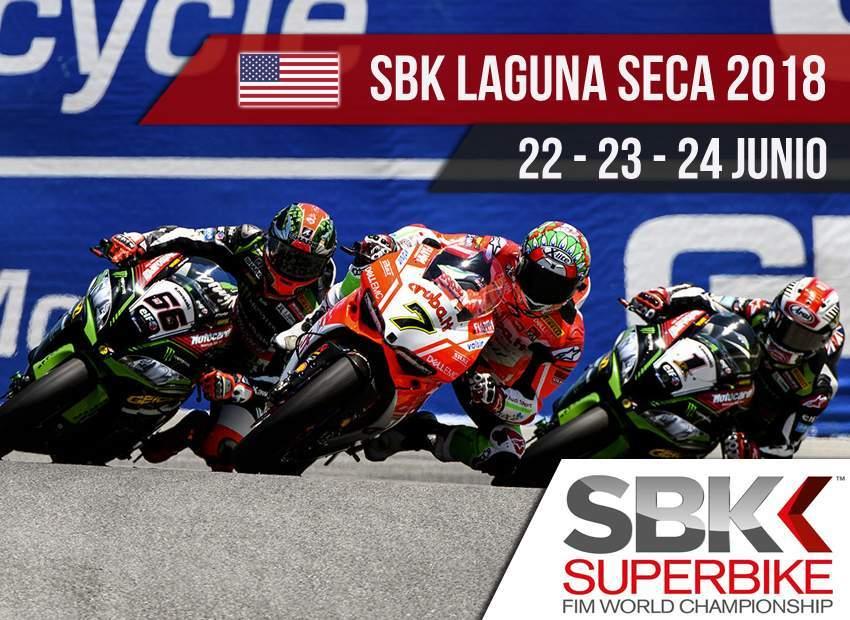 Horarios SBK Laguna Seca 2018 y donde verlo por TDP y Eurosport
