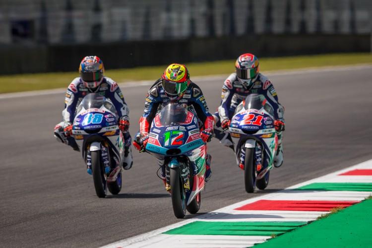 Bezzecchi le quitó la segunda posición a Di Giannantonio en el último momento