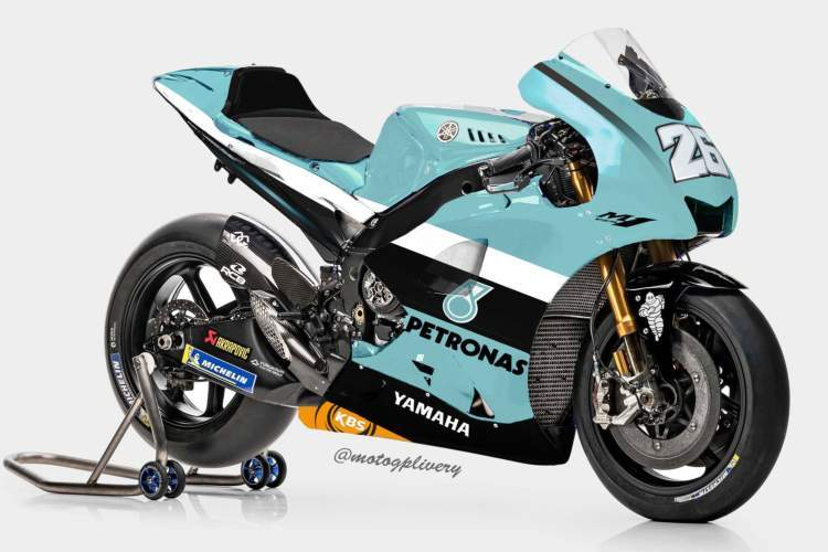 Render de la posible Yamaha Petronas MotoGP de Dani Pedrosa - ©@MotogpLivery