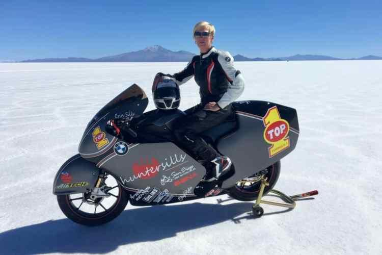 Erin Sills y la BMW S1000RR baten el récord mundial de velocidad