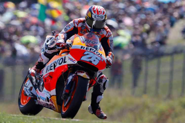 Dani Pedrosa lidera los entrenamientos de MotoGP en Brno