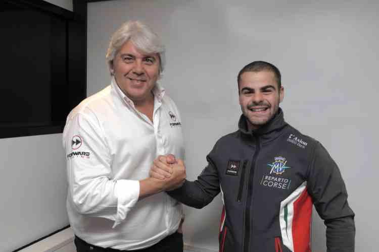 Romano Fenati piloto del MV Agusta Corse Forward Team en Moto2 2019