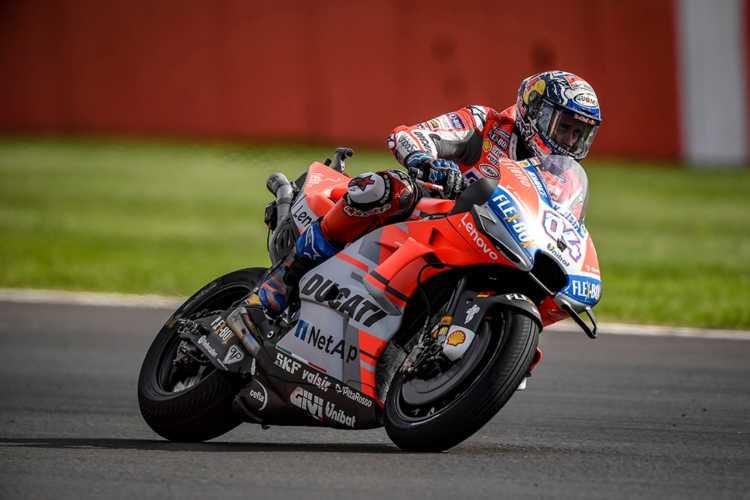 Andrea Dovizioso y Ducati lideran los entrenamientos de MotoGP en Misano