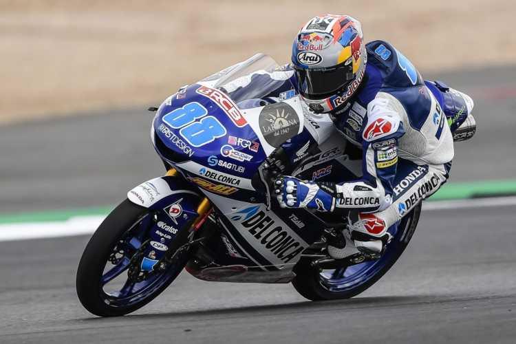 Jorge Mantin comanda los primeros entrenamientos de Moto3 en Misano