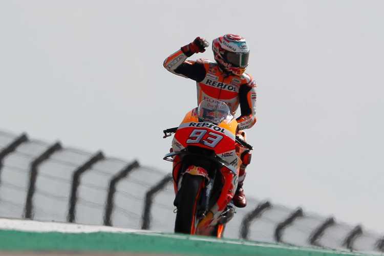Victoria para Marc Marquez en el Gran Premio de MotoGP de Motorland