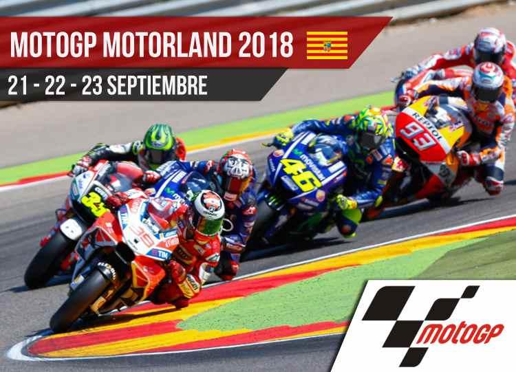 Horarios MotoGP Motorland 2018