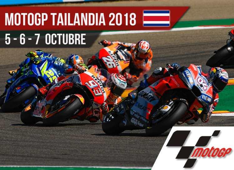 Horarios MotoGP Tailandia 2018