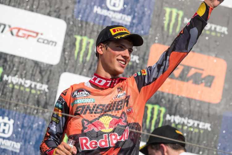 Jorge Prado, campeón del mundo de MX2 2018