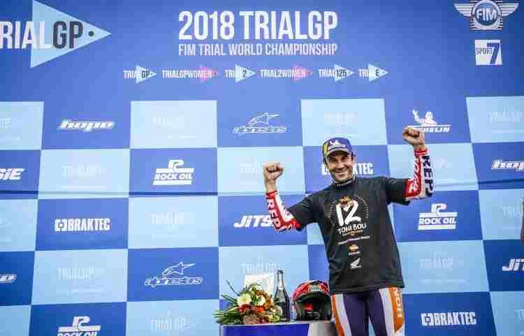 Toni Bou campeón del Mundo de TrialGP 2018