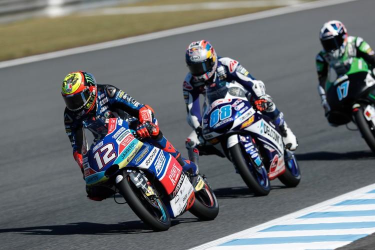 Marco Bezzecchi y Jorge Martín en la lucha por el título de Moto3