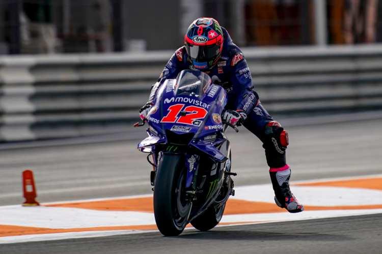 Maverick Viñales firma el mejor tiempo en los test de MotoGP en Valencia