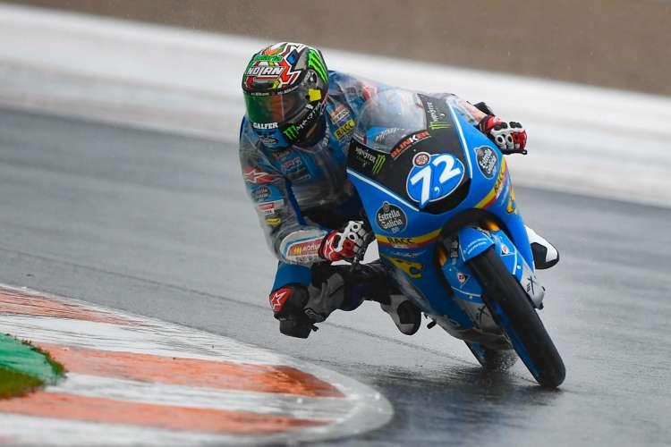 Alonso Lopez firma el mejor tiempo de Moto3 en Valencia
