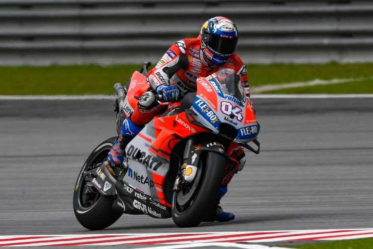 Andrea Dovizioso durante el GP de Malasia.