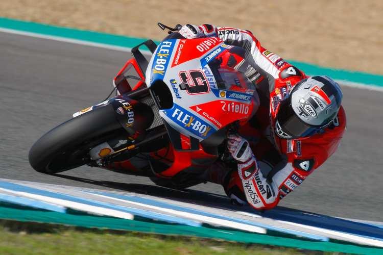 Danilo Petrucci comanda el primer día de test de MotoGP en Jerez