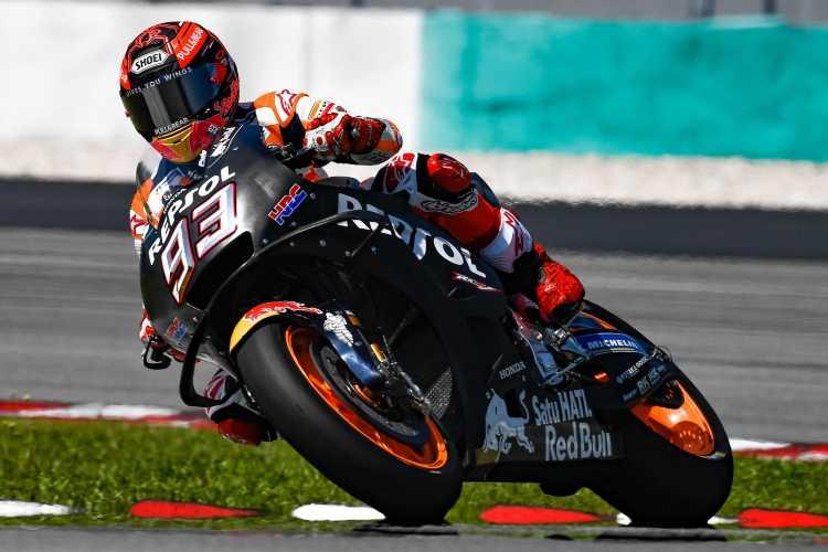 Marc Marquez lidera el primer día de test de MotoGP en Sepang
