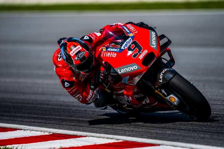 Petrucci y Ducati dominan el último día de test de MotoGP en Sepang