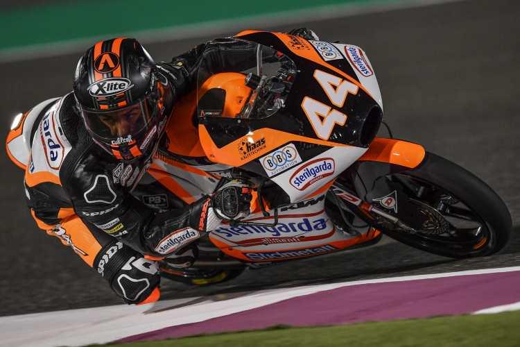 Aron Canet a ritmo de record en los entrenamientos de Moto3 en Qatar