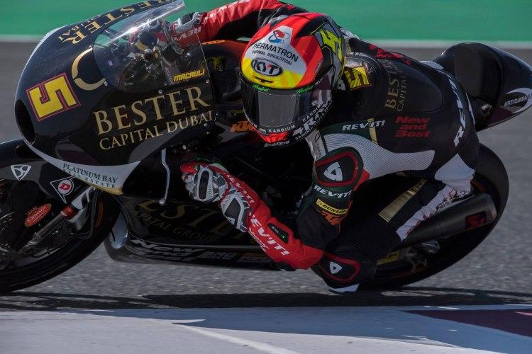 Jaume Masià se fue al suelo en la primera vuelta del Gran Premio de Qatar