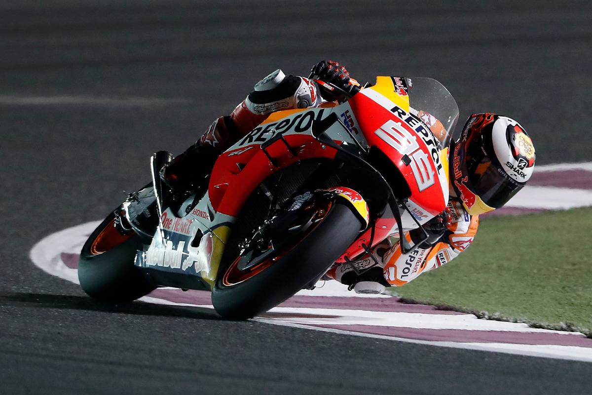 Jorge Lorenzo durante los entrenamientos libres del GP de Qatar de MotoGP.