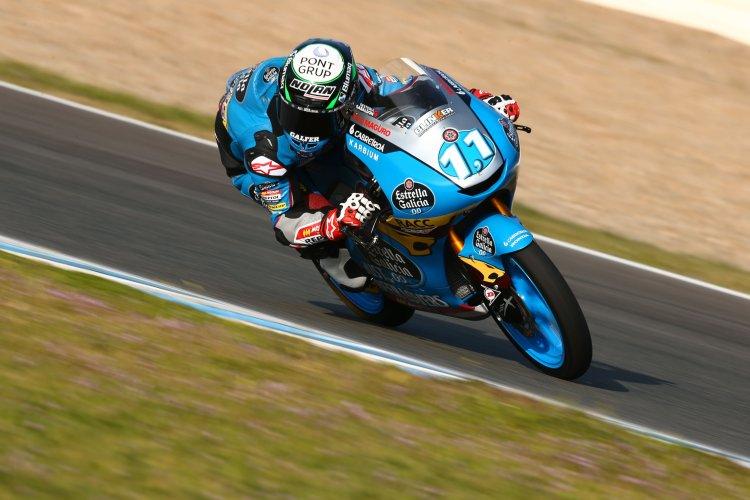 Sergio García durante los test de pretemporada en Jerez