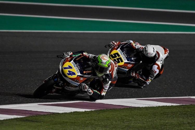 Tony Arbolino y Romano Fenati - Moto3 Qatar 2019