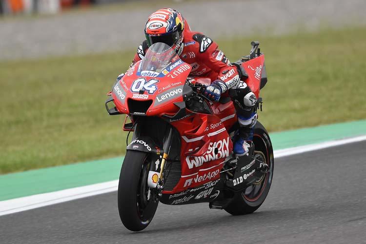 Andrea Dovizioso ha pasado de tener una caída en el FP3 a terminar tercero en la Q2.