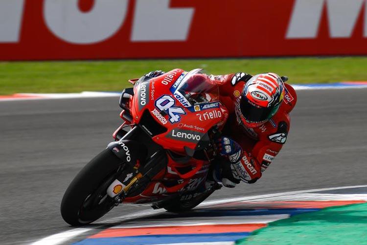 Andrea Dovizioso ha sido el más rápido en el inicio del GP de Argentina.