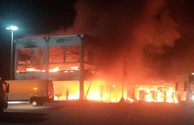 Incendio de las MotoE en el Circuito de Jerez © Simon Patterson