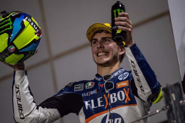Lorenzo Baldassarri gana en Moto2 en Qatar 2019