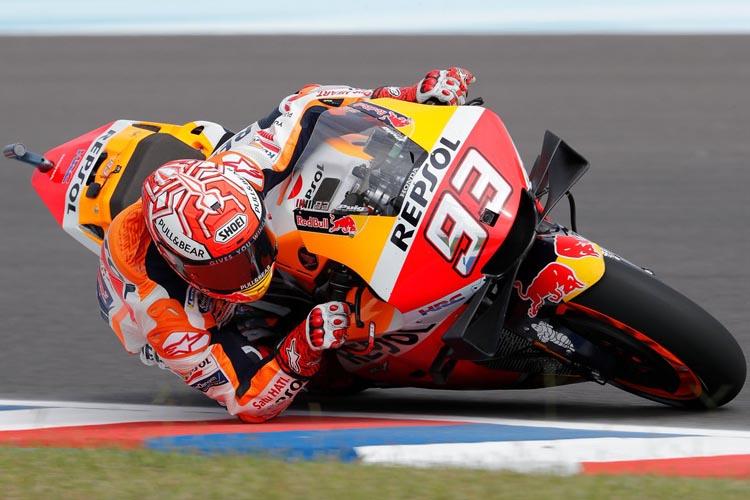 Marc Márquez ha marcado el tiempo de referencia en el FP1 del GP de Argentina de MotoGP.