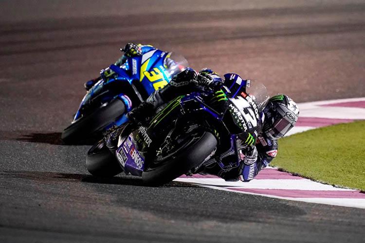 Maverick Viñales durante la disputa del GP de Qatar de MotoGP.
