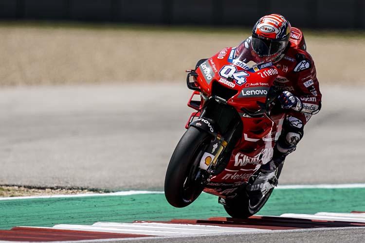 Andrea Dovizioso no ha conseguido estar entre los doce pilotos más rápidos en Austin.
