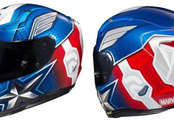 casco moto marvel capitan america