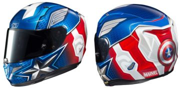casco moto marvel capitan america