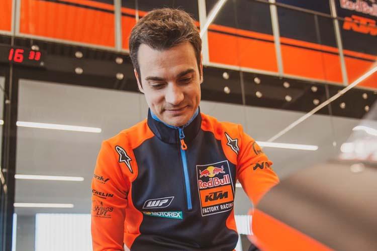 Dani Pedrosa está en la última fase de su recuperación y pronto se subirá a la KTM RC16.