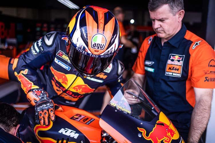 Pol Espargaró está tirando de KTM ante la falta de resultados de Johann Zarco y la lesión de Dani Pedrosa en su rol de probador.
