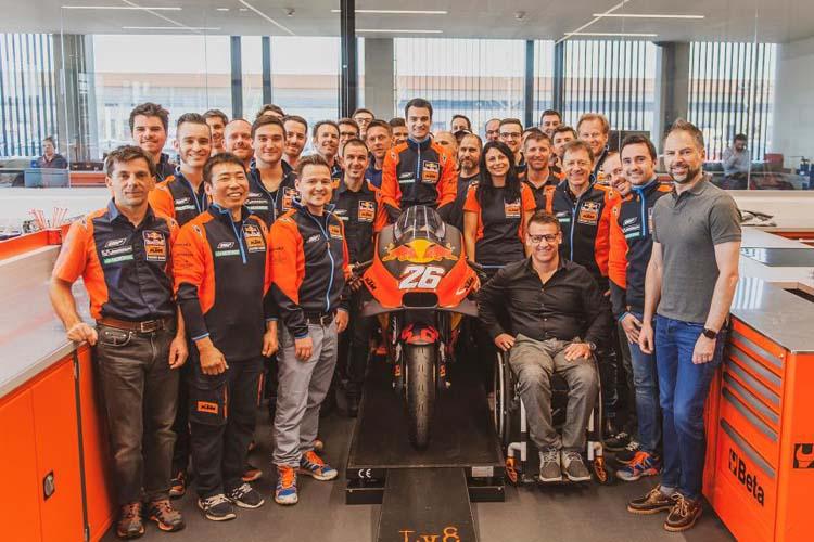 El piloto español Dani Pedrosa durante su reciente visita a la fábirca de KTM en Mattighofen, Austria.