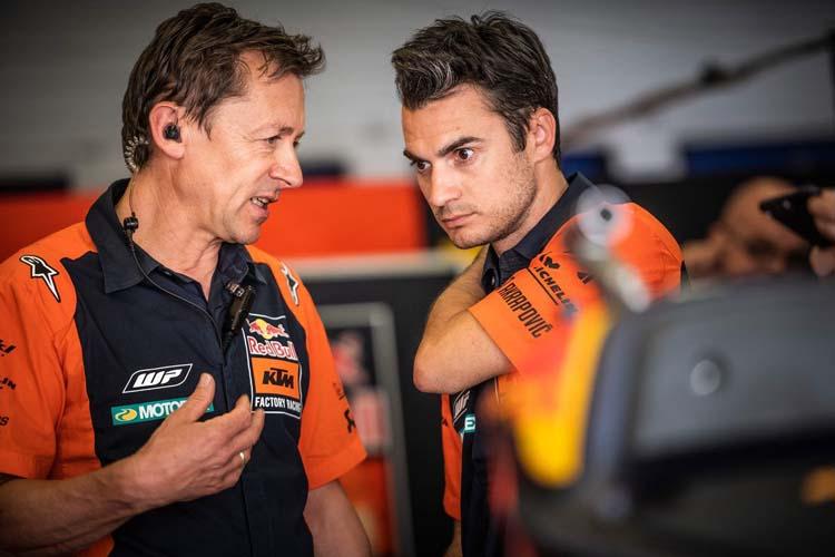 Dani Pedrosa, en el test de Mugello con KTM.