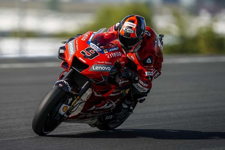 Danilo Petrucci ha conseguido su primer podio en MotoGP con los colores oficiales de Ducati.