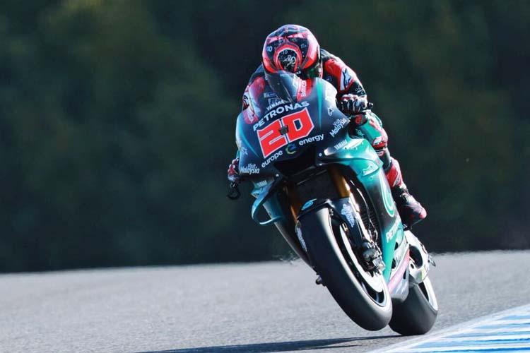 Fabio Quartararo marca el mejor tiempo del test de MotoGP en Jerez