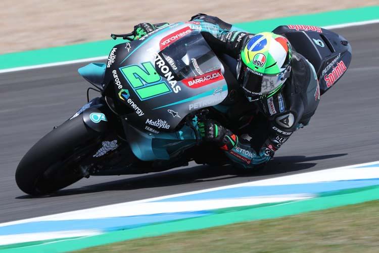 Franco Morbidelli ha completado la actuación estelar del equipo SRT Yamaha al terminar segundo.