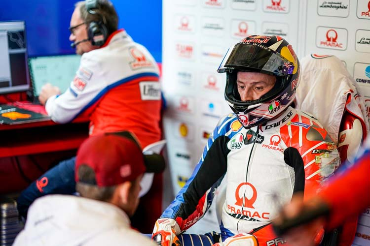 Jack Miller se ha colado en primera fila en Le Mans con la Ducati GP19 de Pramac Racing.