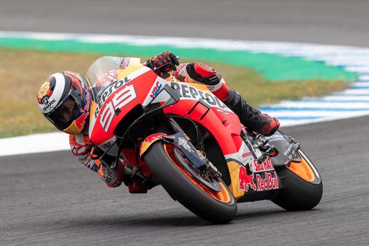 Jorge Lorenzo ha terminado el test de Jerez con dos caídas.