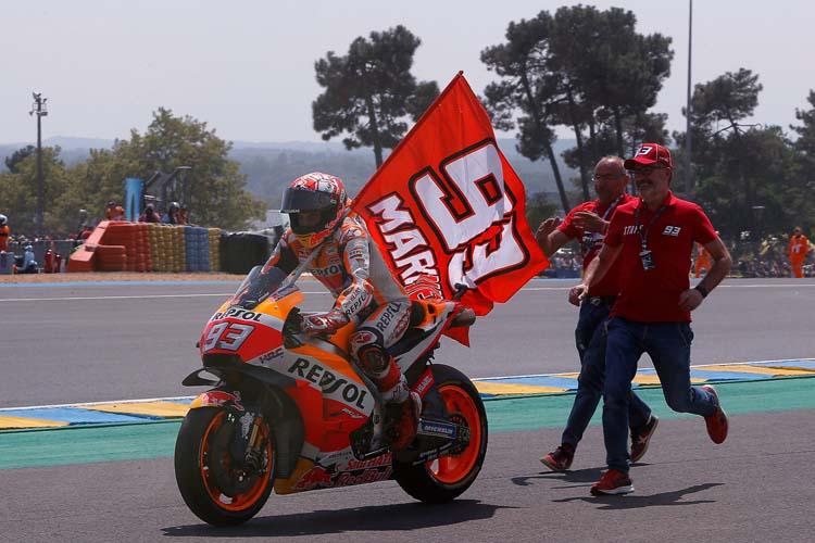 Marc Márquez se anotó la victoria en el GP de Francia de MotoGP en 2018.