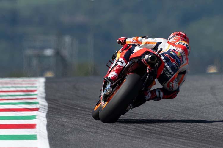 Marc Márquez se ha anotado el mejor crono durante la primera sesión de libres del GP de Italia.