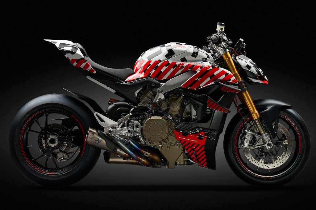 La futura Ducati Streetfighter V4 se estrenará en  Pikes Peak