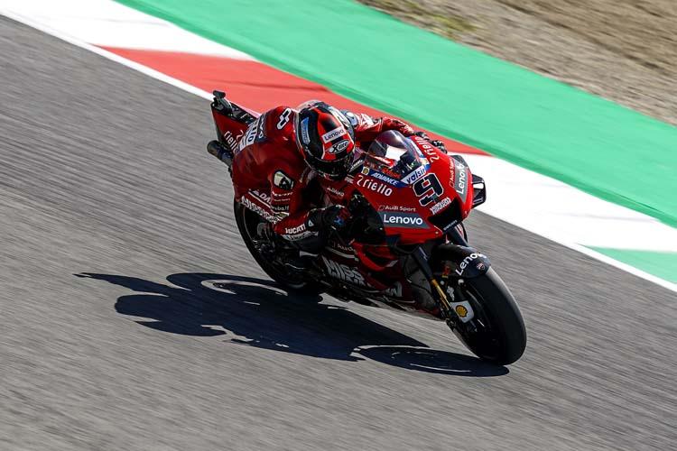 Danilo Petrucci ha sido el único piloto de Ducati capaz de meterse en la primera fila de parrilla en Mugello.