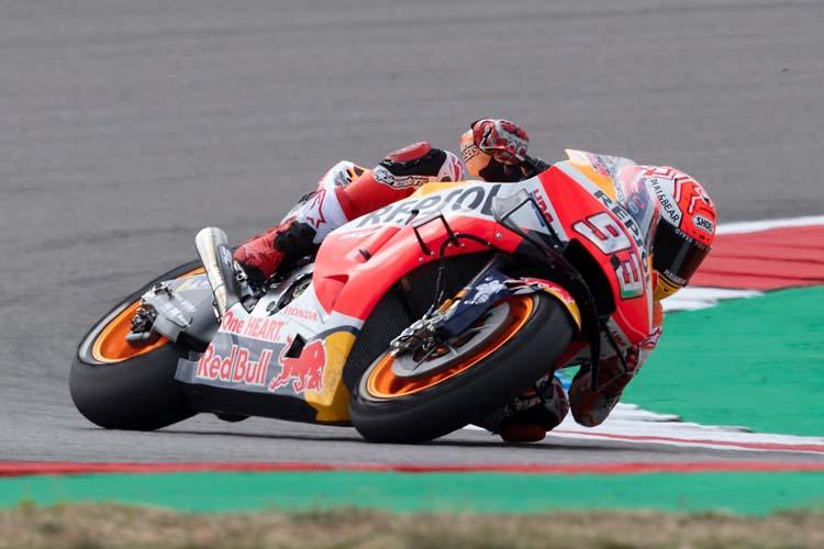 Marc Márquez se ha quedado fuera de la primera fila por primera vez en la temporada 2019 de MotoGP.