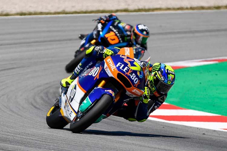 Intensa jornada de test para Moto2 y Moto3 en Barcelona